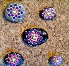 Beach Stone Art ~ Pocket Pointillism Coral Pink Mandala ~ Hand Painted pebble by Miranda Pitrone ~ Dot Art ~Faery Garden~Gift Idea ~ Rocks by P4MirandaPitrone on Etsy