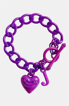 Juicy Couture Starter Charm Bracelet Ultra Magenta One Size