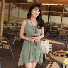 Buy 'CLICK – Sleeveless A-Line Dress' with Free International Shipping at YesStyle.com. Browse and shop for thousands of Asian fashion items from South Korea and more!
