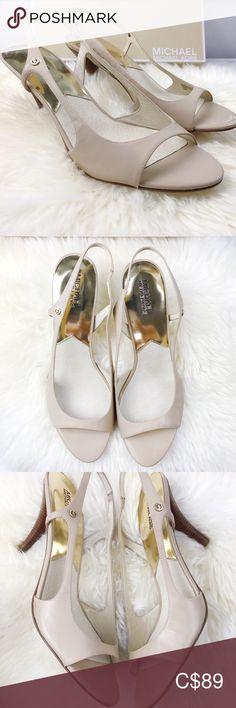 Michael Kors Patent 'Zoe' Leather Sling-back Heels Leather Heels, Patent Leather, Size 12 Heels, Fashion Tips, Fashion Design, Fashion Trends, Screens, Peep Toe, Shoes Heels