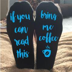 Coffee socks Custom socks If you can read this bring me coffee Socks Black socks #DanskinUltralite #Casual