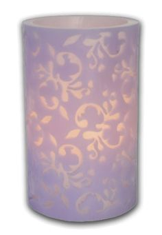 Flameless Candles Pink Lavender Powder Blue Lace Overlay Flameless Wax Candles Electric Battery Operated Candles