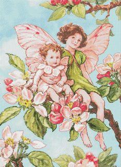 Apple Blossom Fairy Cross Stitch Pattern Fairy Chart Cross Stitch Pattern Colors 47 252x350 St PDF Digital Instant Download #05-02 (4.89 USD) by SophiasStitchPattern