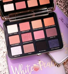 "Too Faced Other - Zu Faced White Peach Eye Shado . - Too Faced Other – 🍑Too Faced White Peach Eye Shadow Palette🍑 Too Faced Other – ""Zu kon - Sparkle Eye Makeup, Peach Makeup, Blush Makeup, Make Up Palette, Peach Palette, Too Faced Palette Peach, Too Faced Peach, Too Faced Eyeshadow, Too Faced Makeup"