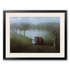 "Art.com ""Bear"" Framed Art Print by Michael Sowa"