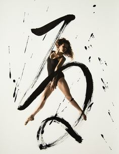 """""""Rurubu"""" is a project created by photographer Haley Friesen and artist Nobuhiro Sato. From this collaboration was born a beautiful series of photographs combin Calligraphy Artist, Japanese Calligraphy, Typography Images, Dance Movement, Body Movement, Beautiful Series, People Dancing, Modern Metropolis, Learn To Dance"""