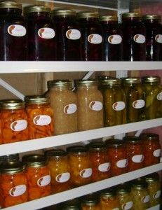 storing and preserving foods --different ways