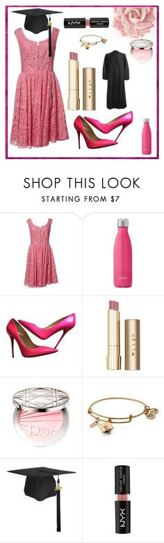 """""""Untitled #364"""" by bitty-junkkitty ❤ liked on Polyvore featuring Prada, S'well, Jimmy Choo, Stila, Alex and Ani and NYX"""