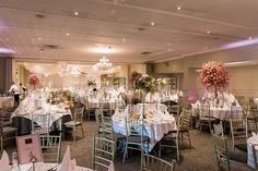Wedding decor at the County Arms Hotel. Venue decor including cherry blossom centrepieces, floral centrepieces and top table garland by the Finesse team Wedding Venue Decorations, Wedding Centerpieces, Wedding Venues, Table Decorations, Cherry Blossom Centerpiece, Floral Centrepieces, Table Garland, Irish Wedding, Arms