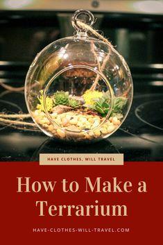 How to Make a Terrarium - Gift ideas - Top Decor Diy Jewelry Rack, Decorating Your Home, Diy Home Decor, Decor Room, Storage Box On Wheels, How To Make Terrariums, Mermaid Diy, Inexpensive Home Decor, Contemporary Home Decor