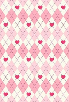Plaid Backdrop Pink Background S-2845 - 5'W*6.5'H(1.5*2m)