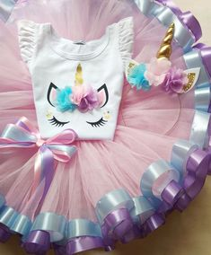 Unicorn Tutu Outfit For Birthday, Pink Tutu Outfit For Unicorn Birthday, Unicorn Cake Smash # Outfits fiesta Your place to buy and sell all things handmade Unicorn Themed Birthday Party, Birthday Tutu, Birthday Dresses, Birthday Party Decorations, Girl Birthday, Cake Birthday, Birthday Ideas, Unicorn Birthday Cakes, Birthday Outfit