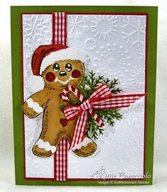Gingerbread man card.  Mom- go check out the board I got this from, she has tons of cards you would love. @charlotte carper