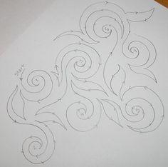 Machine quilting, swirls, tutorial