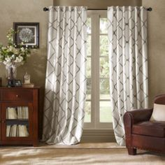 Product Image for Bombay™ Garrison Rod Pocket/Back Tab Window Curtain Panel 1 out of 2