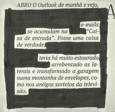 "Poesia ""achada"" no jornal do dia 26/01 pela poeta Ana Guadalupe."