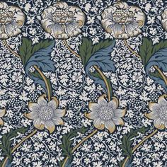 William Morris Designs Kennet From Loome Fabrics Kitchen Fabric, Linen Curtains, William Morris, Loom, Upholstery, Arts And Crafts, Prints, Fabrics, Design