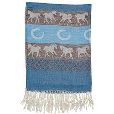 Equestrian Fashion Pashmina Scarf Aqua
