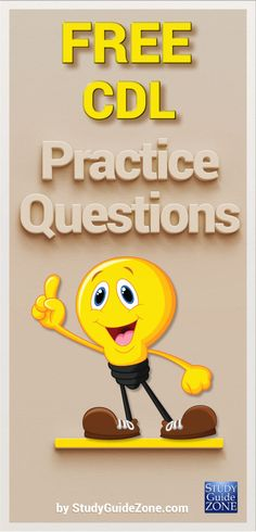 Get free CDL practice questions and study tips to help you prep for the CDL test. #cdltest #cdlprep