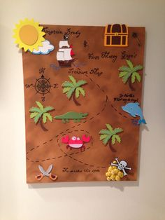 Pirate treasure map from canvas