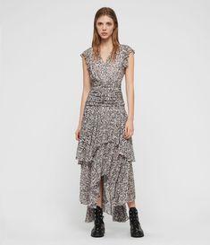 c90d01ec7f ALLSAINTS UK: Womens Caris Kara Long Dress (light_pink) Kara, All Saints,