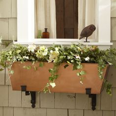 Cardiff Planter   Plants and herbs take center stage in this copper-finished steel planter that can sit perfectly poised on a terrace or rail-mounted with brackets.