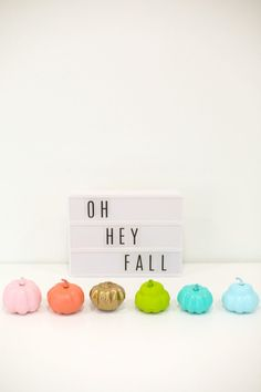 DIY Painted Mini Pumpkins | lovelyindeed.com
