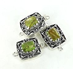 GASPEITE CLASP STERLING LARGE WIRE DESIGN from New World Gems