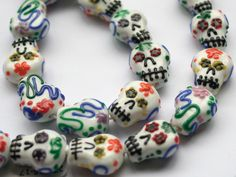 Sugar Skull Lampwork Beads- these are the cutest I've seen