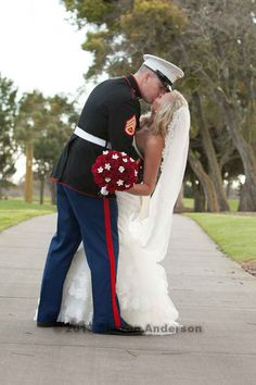 Our wedding, marine wife, marine corps themed wedding, wedding ideas #sweepmeaway off my feet <3 #trueloveskiss