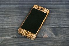 Zebrawood iPhone Wrap  Wooden iPhone Case for iPhone 4 by StudioeQ, $25.00, cross detail