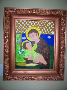 "Antique Painting ""MADONNA with CHILD"" (29 x 25  ) *signed *heavy Ornate Frame by LIZ404 on Etsy"