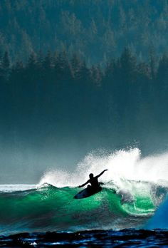 Surfing Tofino, Vancouver Island, BC // Photo by Josh Lewis // Pin curated by @seattlestravels for @explorecanada