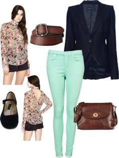 """""""My go to outfit, for when I need to get dressed quick and still look put together."""" by chavezgemar on Polyvore"""