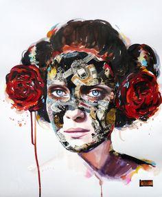 Heroic Expression: Sandra Chevrier Interview - News - - See the… Female Portrait, Portrait Art, Portraits, Sandro, Sandra Chevrier, Collage Art Mixed Media, Old Magazines, Sculpture, Face Art