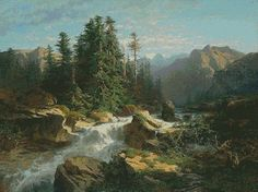 Free Pictures and Cross Stitch Patterns Thomas Gallery: free landscape pattern a941