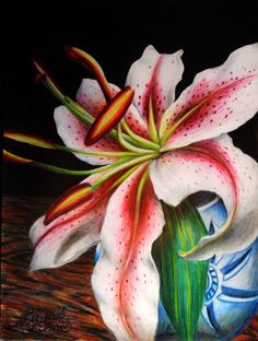 """Lily"", Colored Pencil by Michelle C. East"