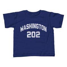 Boy's Washington DC 202 Area Code T-Shirt