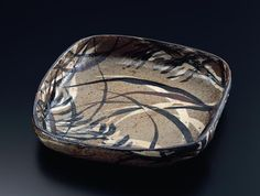 Square Bowl with Grass Design, 18th century by Ogata Kenzan
