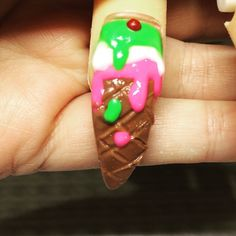 """Ice cream #nailsonfleek #nailart #gelpolish #acrylicnails #nailart #urbanglamnailz #3Dnails #skulls #perthnails  #manimonday #swarovski #miasecret #wings #roses #icecream #flowers"" Photo taken by @urban_glam_nailz on Instagram, pinned via the InstaPin iOS App! http://www.instapinapp.com (06/14/2015)"