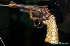 Colt Model 1860 Army revolver engraved with gold bamboo leaves Tiffany grips.