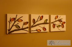 toilet paper wall art! Look like you could use a real tree branch to recreate this wall art!