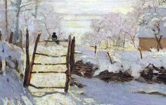 Claude Monet - La pie (The magpie) Claude Monet, Art Reproductions, Landscape Paintings, Oil Paintings, Landscapes, Find Art, Framed Art, Giclee Print, Original Art