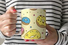 Donut Mug, Donut Gifts, Donut Cup, Donut Lover, Food Mug, Cute Mugs, Foodie Gifts, Funny Mug Doughnut Mug Mugs for Friend Funny Cups (a3611)
