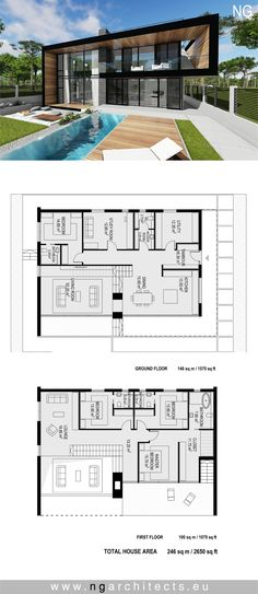 Vichingo Creek Case di lusso - The Lodge at Whitefish Lake Architecture Design, Modern Architecture House, Mansion Plans, Modern House Floor Plans, Modern Villa Design, Villa Plan, Modern Mansion, House Layouts, Luxury Homes