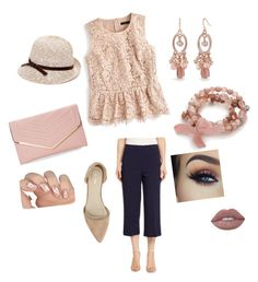 """Navy Blue and Pink Lace"" by naomi-cox-carrasco on Polyvore featuring Nanette Lepore, J.Crew, Nly Shoes, Sasha, Kim Rogers and Collection XIIX"