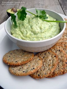 Going to use canned white beans for this Humus meets Guacamole dip & will serve w/thick slices of English cucumbers instead of crackers.  Super healthy & high fiber - Love the addition of pumpkin seeds - Creamy Green Avocado Cilantro Bean Dip