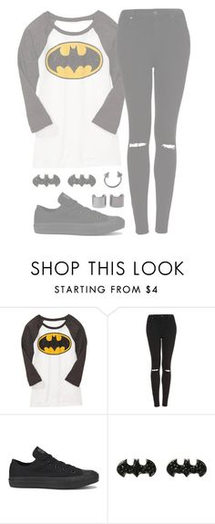 """Batman"" by alexdacko ❤ liked on Polyvore featuring Old Navy, Topshop, Converse and Luv Aj"