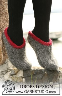 Felted slippers. Cold toes are no joy. These are fast to make and cool to look at!