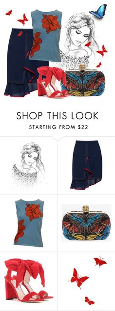 """Fresh Look"" by ejuszczyk ❤ liked on Polyvore featuring Marco de Vincenzo, Lucien Pellat-Finet, Alexander McQueen, Jimmy Choo and Diamantini & Domeniconi"